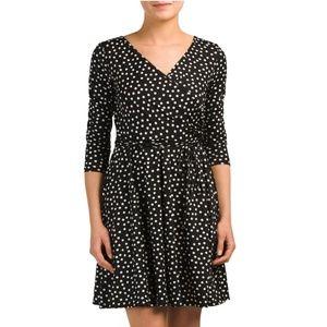 Annalee and Hope polka dot faux wrap dress Sz L